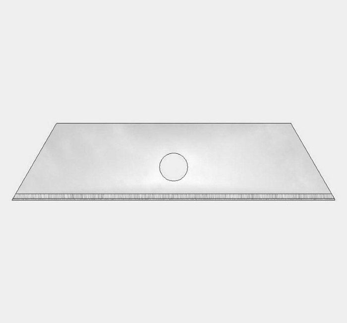 Trapezoid blade 70mm